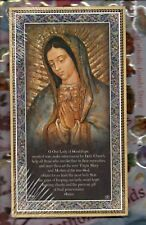 """Our Lady of Guadalupe + Prayer - English - Gold Foil Plaque (5"""" x 9"""")"""