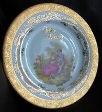 Generosamente Oro Dorado Aniversario de Oro Limoges vintage China de hueso Tapa De