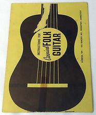 Toy Guitar Booklet CARNIVAL FOLK GUITAR INSTRUCTIONS, Sheet music