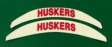 Huskers Helmet Decal 3D Bumper Sticker Riddell Schutt Nebraska Football New Lg