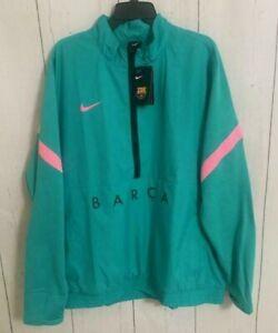 Men Nike Barcelona Track Jacket Woven 20/21 Green/Pink Beam CK8486-396 Size XXL