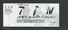 Original 1991 David Bowie Tin Machine Unused Full Concert Ticket Manchester Uk