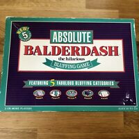 ABSOLUTE BALDERDASH HILARIOUS BLUFFING GAME - RARE 1993 EDITION 100% Complete