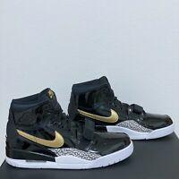 Nike Air Jordan Legacy 312 Mens Size 12 Patent Black Gold Shoes AV3922-007 New