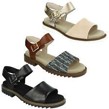 Sandali e scarpe Clarks con cinturino per il mare da donna 100% pelle
