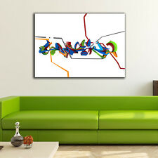 70×100×3cm Graffiti Art Canvas Print Framed Wall Art Home Decor Gift Painting IV