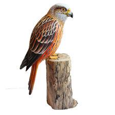 RED KITE BIRD On Wooden Log 30cm ORNAMENT Figurine Home Decor