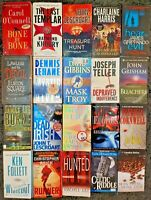 LARGE BULK BOOK LOT 20 PAPERBACK MYSTERY THRILLER SUSPENSE CRIME MIX SHIPS FREE