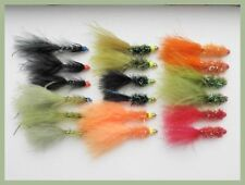 Trout Flies, 18 Pack Hothead Lures, Flash Damsel, and Mixed Fritz, Size 10