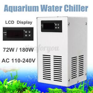 70/120W Aquarium Water Chiller Fish Shrimp Tank Cooling LCD Display AC