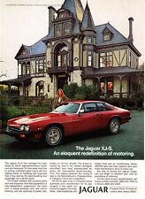 1979 Rhine House Beringer Vineyards Napa Valley photo Jaguar XJ-S Coupe print ad