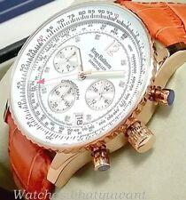 Krug Baumen Air Traveller Men's Diamond Chronograph Rose Gold Watch NEW RRP £775