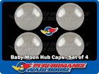 10-18 Id Chrome Baby Moon Hub Caps Centre Hub Caps Chrome Steel Smoothie
