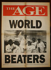1995 The Age World Beaters Newspaper Cricket Poster