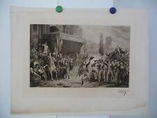 """PENNEQUIN - VINCHON - TB Eau Forte - """"Citoyens, la Patrie en danger"""", vers 1900"""