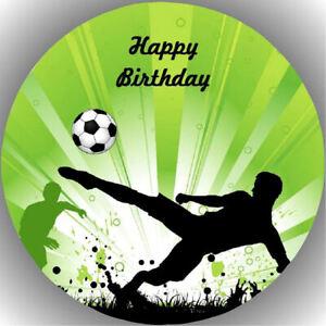 Tortenaufleger Geburtstag Party Tortenbild Fondant Oblate Fussball  P21