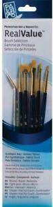 Princeton Real Value Gold Taklon Paint Brush Selection Set of 6