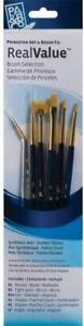 Princeton Real Value Gold Taklon Paint Brush Selection Set of 6