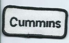 Cummins Driver patch 1-1/2 X 3-3/8 #608