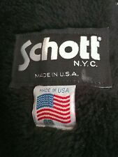 Schott 184 sm Giubbotto Paninaro Pelle Jacket Giacca Leather Top Gun Nero TG.48