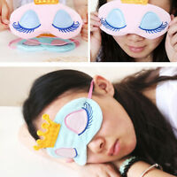 1X Cute Crown Eye Mask Shade Cover Rest Eyepatch Blindfold Shield For Sleep NEW