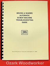 BROWN & SHARPE Screw Machine Troubleshooting Guide Manual 0786