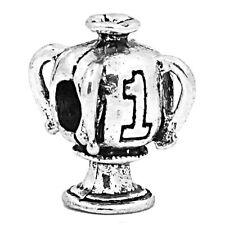 Winner Trophy #1 Sports League Champions Bead for Silver European Charm Bracelet