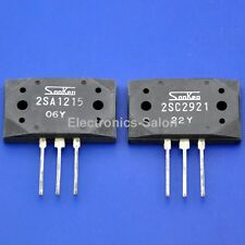 1x 2SA1215 & 1x 2SC2921 Original SANKEN Audio High Power Transistors.