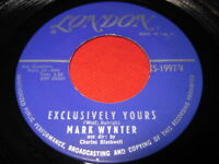MARK WYNTER 45 - EXCLUSIVELY YOURS - LONDON TEEN OLDIES