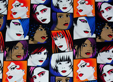"Michael Miller Goth Girl Fabric 1 + Yards (48"" wide x 45"" long)"
