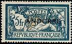 "ANDORRE FRANCAIS N°21 ""TYPE MERSON 5 F. BLEU ET CHAMOIS"" NEUF xx TTB"