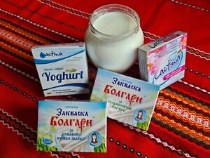 Sachets Bulgarian Yogurt Starter Culture Natural bio Greek style Yoghurt Home