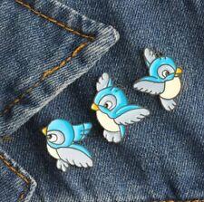 Enamel Pin Badges - Set of 3 - Blue Birds - EB0033