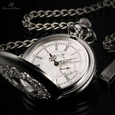 Unbranded Half Hunter Silver Plated Pocket Watches