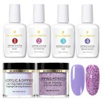 6Pcs/Set BORN PRETTY Dipping Powder Nail Dip System Liquid Purple Starter Kit