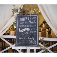 Wedding Sign Seating Friends Bride Groom Please Sit Together Ceremony Decoration