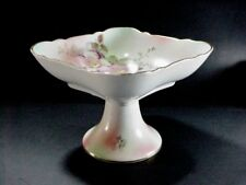 SCHUMANN ARZBERG GERMANY: WILD ROSE SQUARE COMPOTE FOOTED SERVING BOWL- NICE!