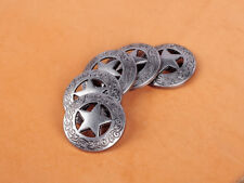 10PCS 2.8 CM ANTIQUE SLIVER WESTERN COWBOY STAR CONCHOS RIVETBACK FOR HANDCRAFT