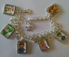 Silver Plated Charm Bracelet With Charms New Nintendo Mario Kart Party Yoshi