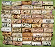 50 Natural Used Wine Corks, No Synthetic, No Champagne