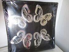 Deko Schmetterlinge 4er-Set silber