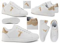 Scarpe da donna sportive Trussardi sneaker in pelle bianche casual comode basse