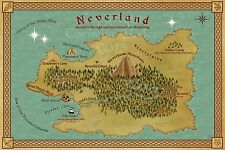 Map of Neverland, based on Peter Pan by J. M. Barrie