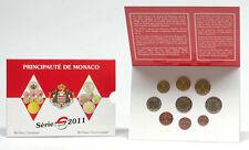 MONACO DIVISIONALE BU 2011, 9 val. (serie+2 € Mariage)  TIRAT. : 7000 esemplari.