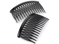 8cm Curved Black Side Hair Combs Slides Hair Accessories