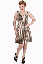 Striped Regular Collar Midi Dresses for Women