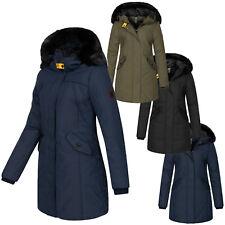Geographical Norway Damen Winter Jacke Mantel mit Kunstfellkragen D-450