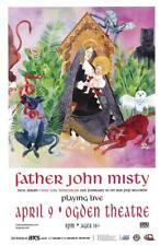FATHER JOHN MISTY FLEET FOXES DENVER 2015 CONCERT POSTER COLORADO