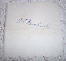Art Buchwald Autograph on Napkin