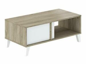 2-Door Coffee Table with Storage Compartments, 100 x 50 x 40 cm